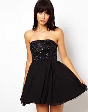 Flirty LBD! Ideal for New Years Eve. FInd this look at asos.com
