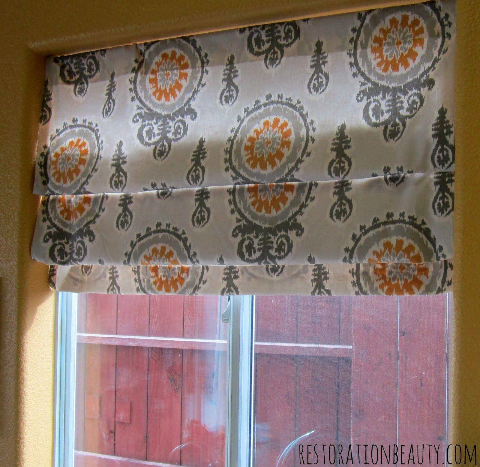 Super Quick NoSew Roman Shades Diy window shades, Diy
