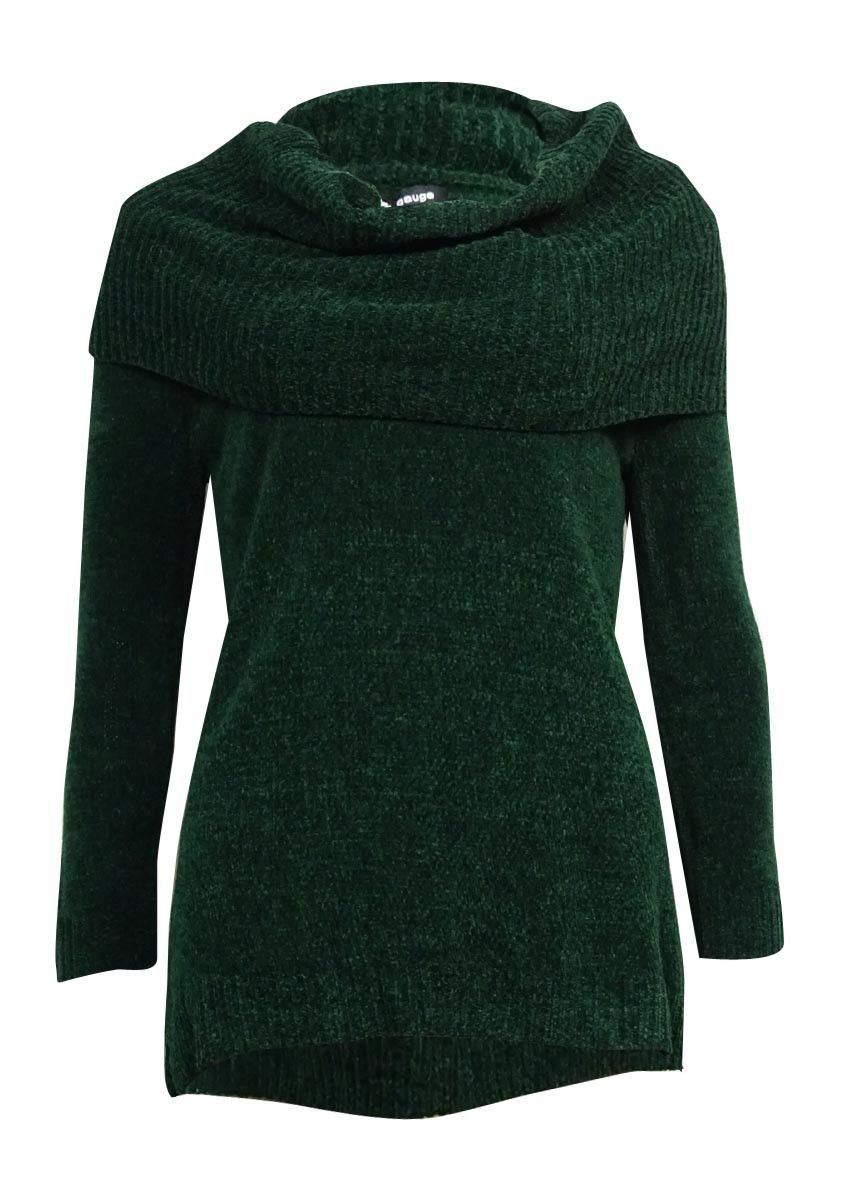 Cable & Gauge Women's Cowl Hi-Lo Chenille Sweater | chenille ...