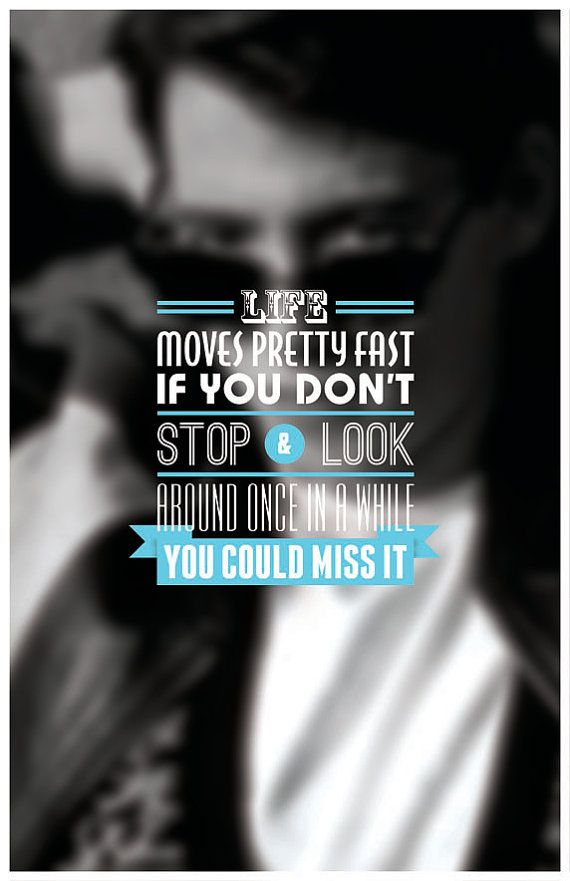 Ferris Bueller Typography Poster by sap41387 on Etsy, 15