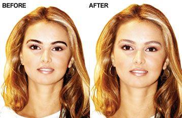Eyebrow Lightening Before & After | Lighten eyebrows, How ...