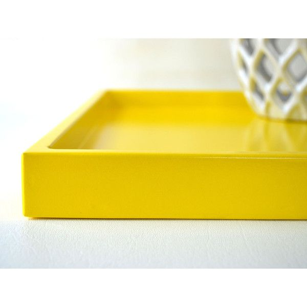 Decorative Plastic Serving Trays Fair Bright Yellow 14 X 18 Shallow Decorative Tray Lacquered Wood Decorating Design