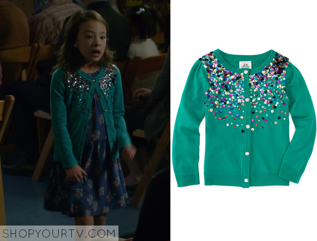 Modern Family: Season 6 Episode 17 Lily's Green Sequin Cardigan ...