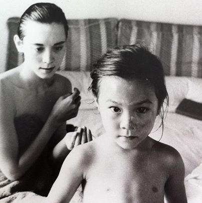 Tina Chow With Baby China Chow Tina Portrait
