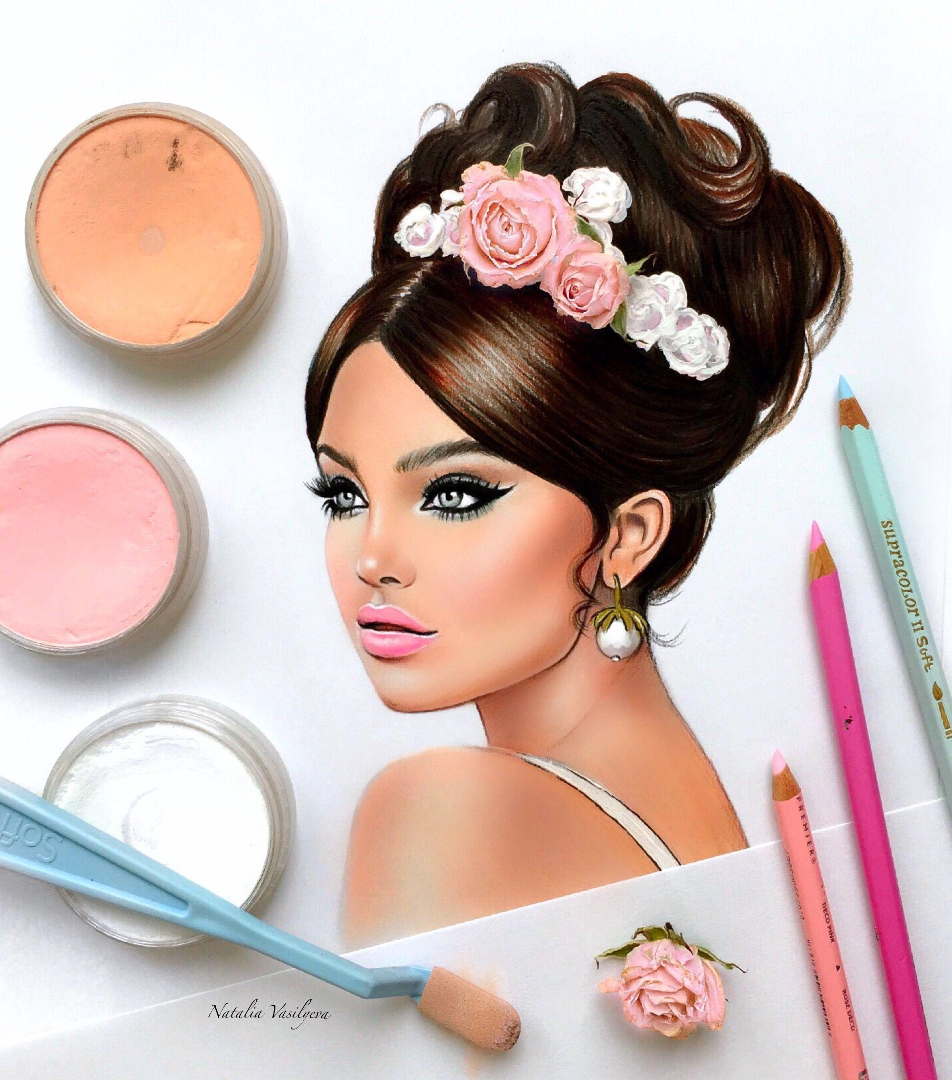 by Natalia Vasilyeva   Drawings   Pinterest   Dibujo, Rostros y ...