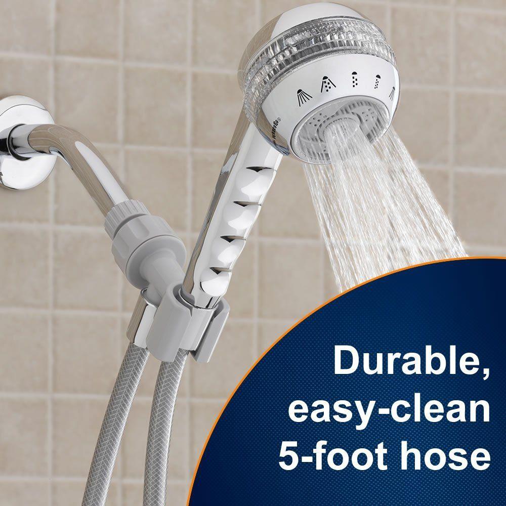 waterpik sm653cg original shower massage hand held shower head chrome hand held