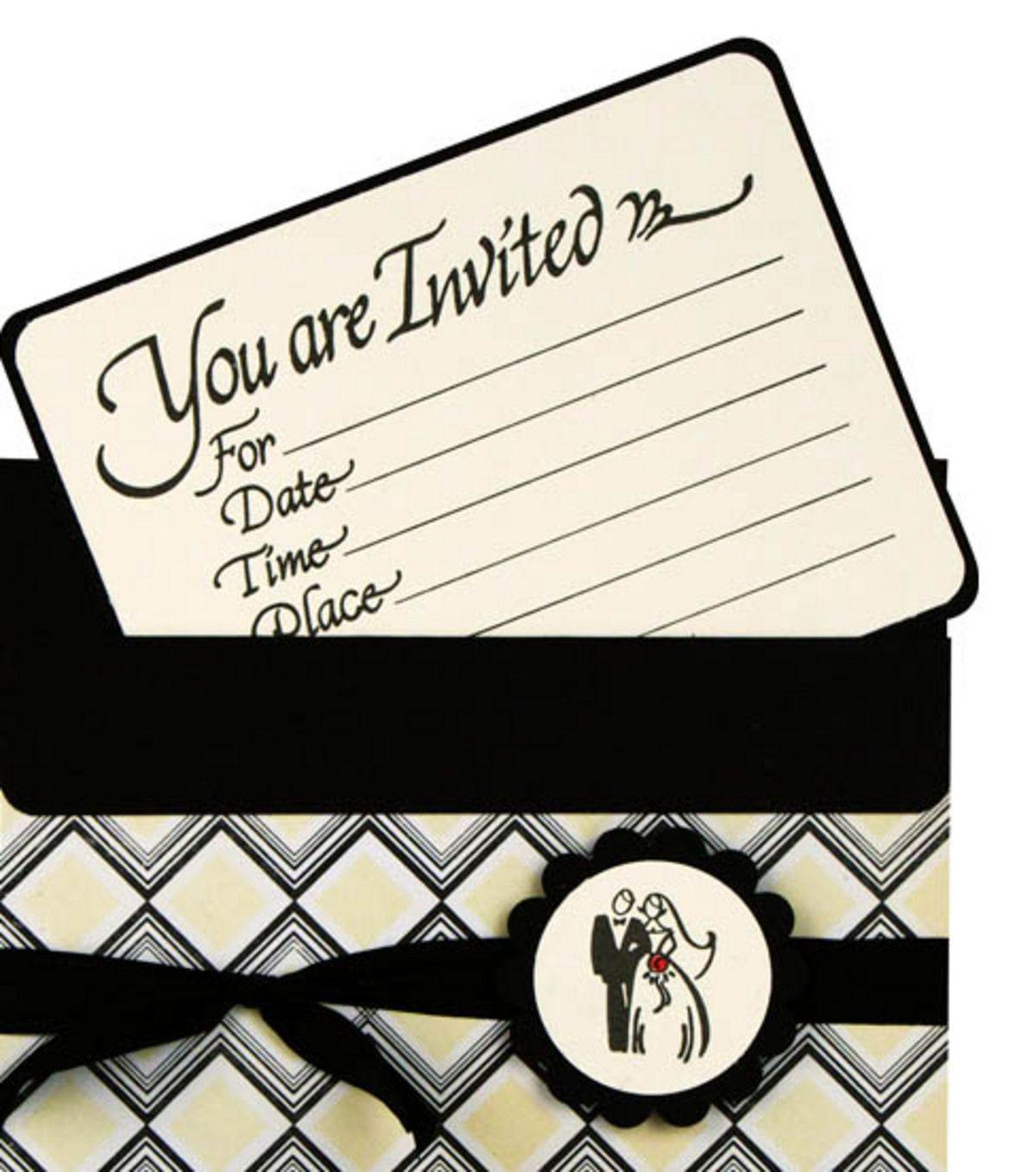 Wedding Invite   crafts   Pinterest   Joann fabrics, Cards diy and ...