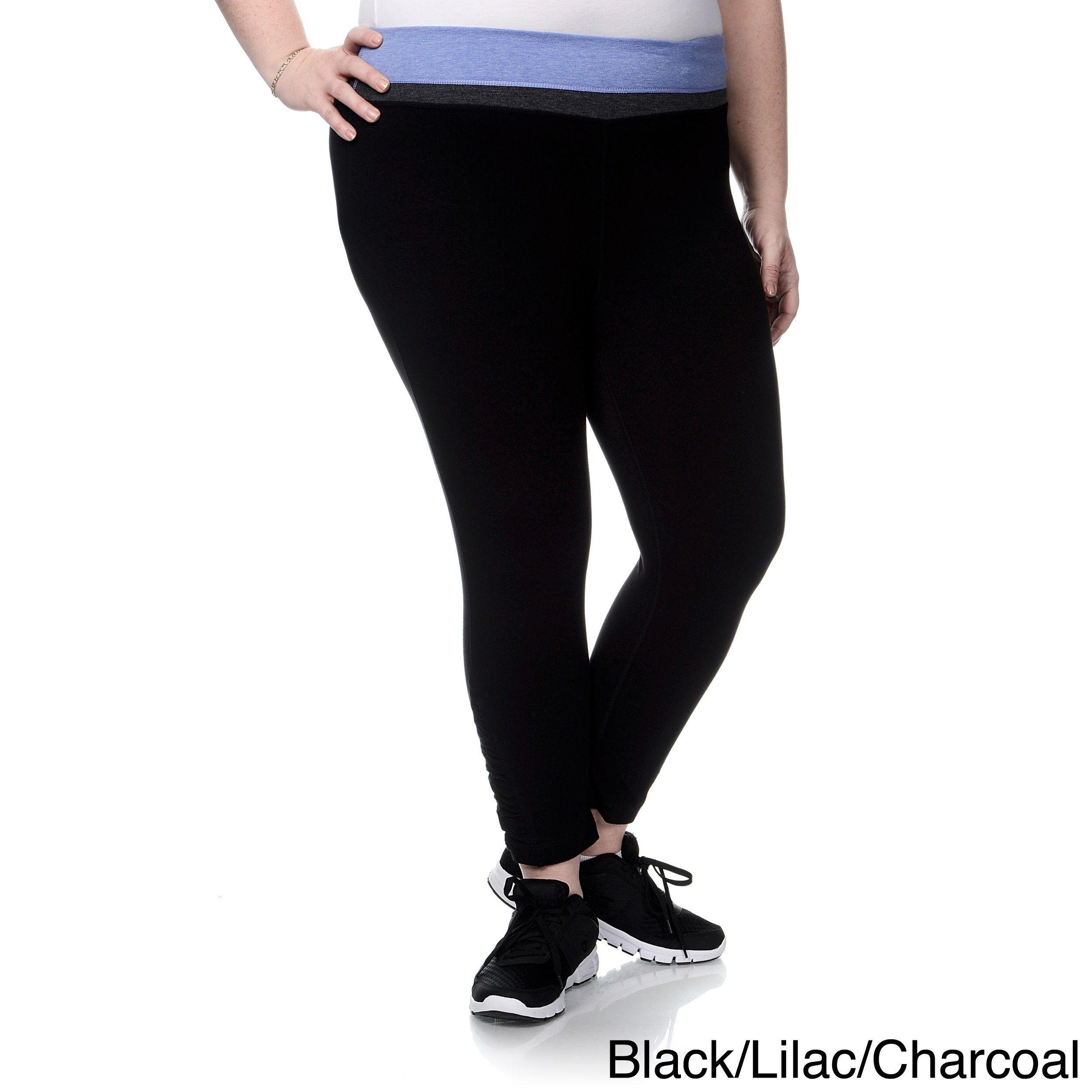 d2f5da61f0982 Chloe 90 Degree by Reflex Women's Plus Size Shirred Leg Yoga Capri Pants