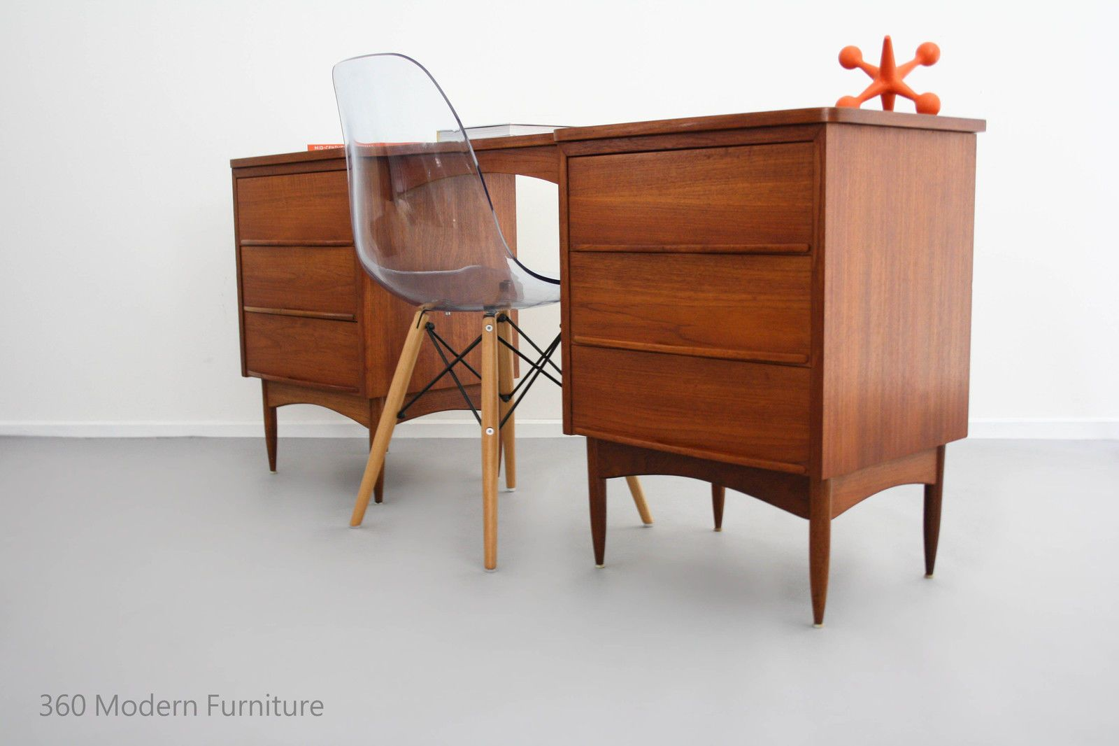Mid Century Modern Desk Table Drawers Console Vintage Retro Sideboard Scandi Mid Century Modern Desk Retro Furniture Furniture