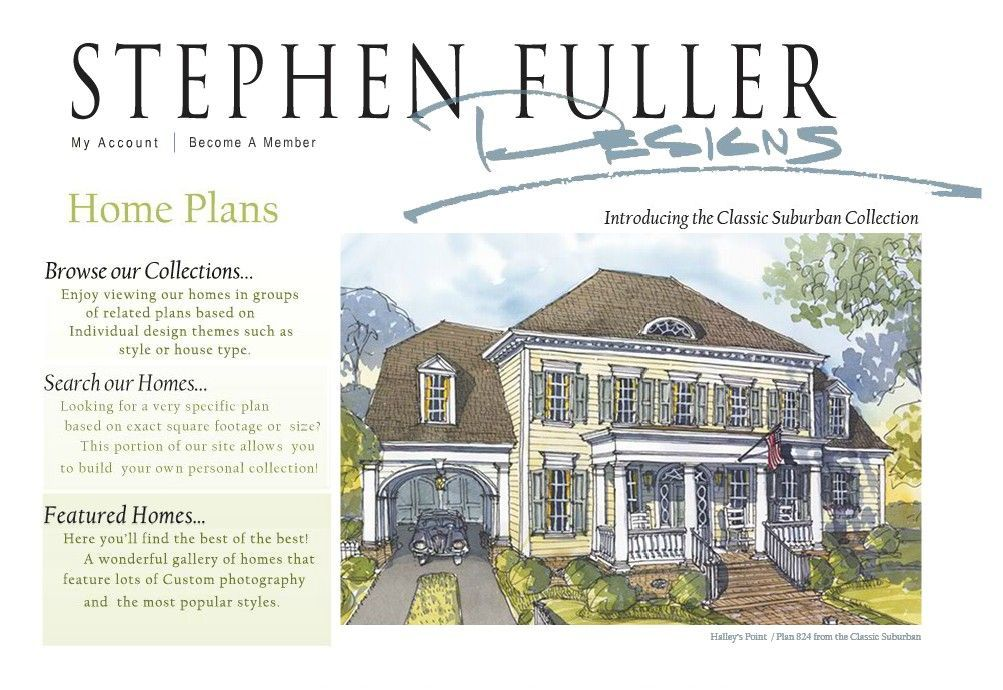 Home plans and house plans by stephen fuller inc