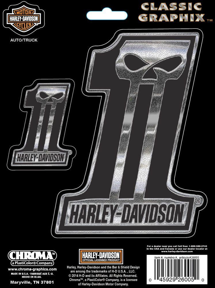 Original HarleyDavidson Autocollant 1 SOMBRE CUSTOM