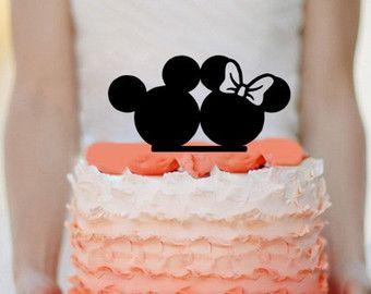 Disney Wedding Cake Topper Custom Mickey Minnie