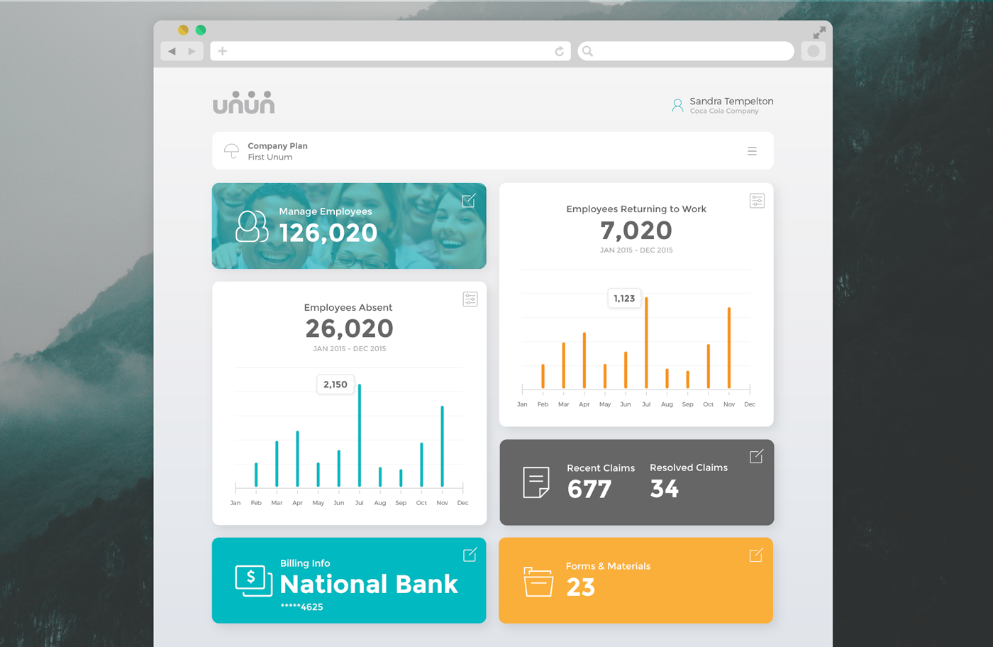 Internal Insurance Claims Dashboard on Behance Material
