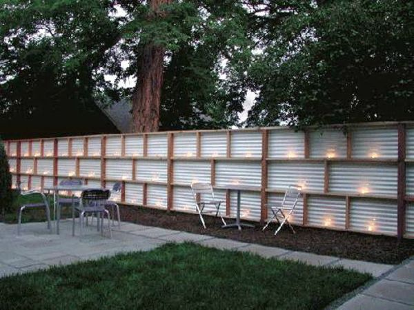 Moderne Gartenzäune schaffen Sichtschutz im Außenbereich garten