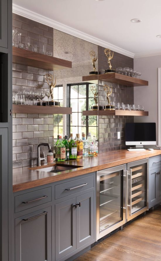 25 Beautiful Home Bar Ideas To Inspire You In 2020 Dark Grey