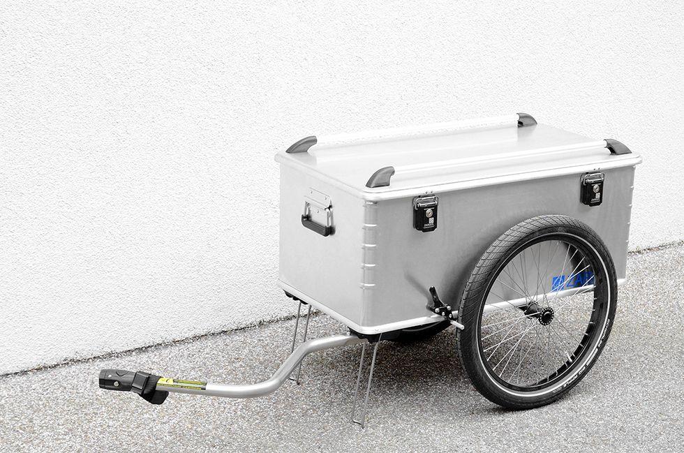 Fahrradanhanger Mit Alubox Zarges Maxibox Grundplatte Cnc Gefrast