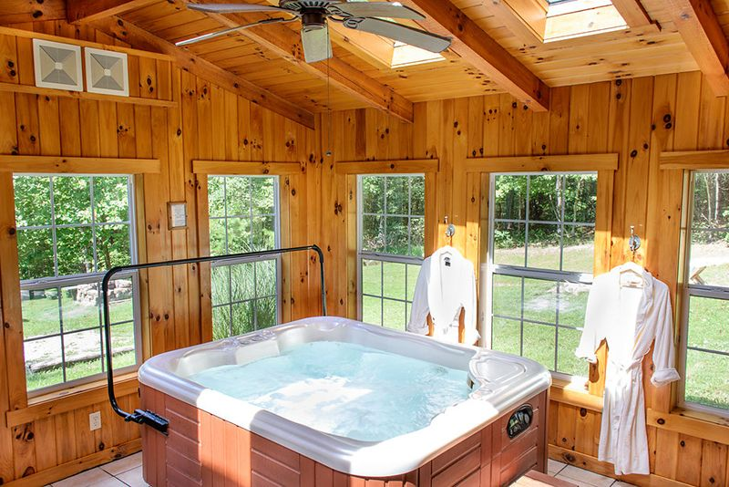 20 Indoor Jacuzzi Ideas And Hot Tubs For A Warm Bath Relaxation Home Design Lover Hot Tub Room Indoor Hot Tub Indoor Jacuzzi