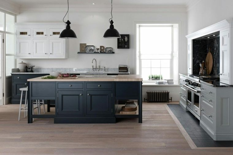 tendance cuisine 50 exemples avec la couleur grise pinterest cuisine tendance gris fonc. Black Bedroom Furniture Sets. Home Design Ideas