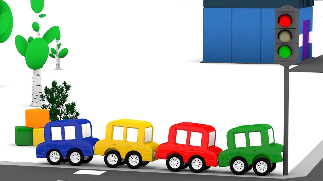 Le Macchinine Colorate Aggiustano Il Semaforo Cartoni Animati Per