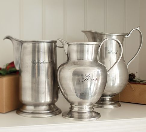 Awesome Pitchers For Drinks Or As A Vase Antique Silver Silver Serveware Pottery Barn