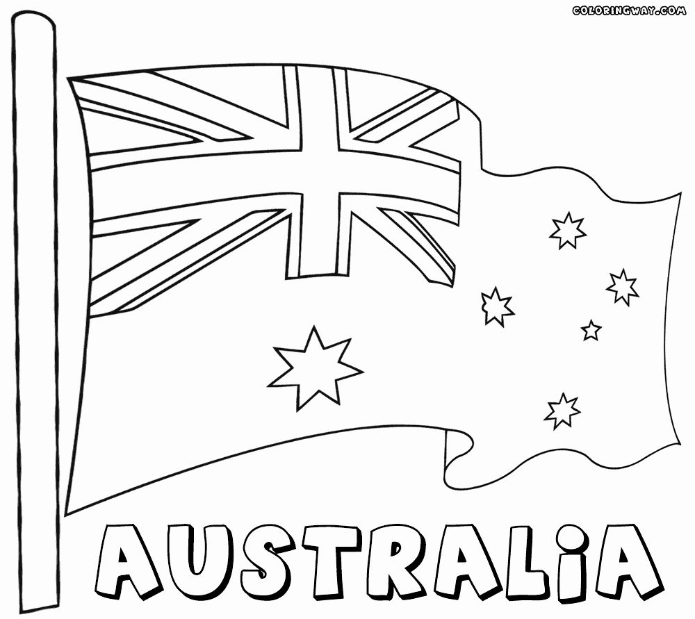 28 Australia Flag Coloring Page Flag Coloring Pages Australia