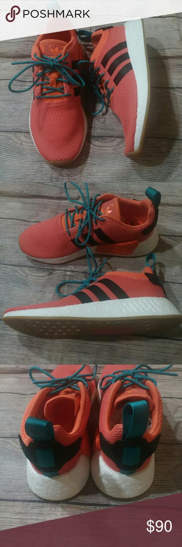 af2cd9b88a3c NIB Adidas NMD R2 Summer Orange Running Sneakers Adidas NMD R2 Summer  sneakers - new with box - orange with teal laces - boost midsole - size 9  men s adidas ...