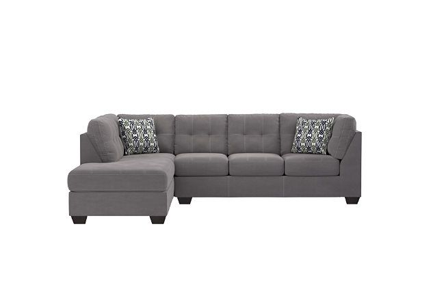 Slate Pitkin Sectional And Pillows Ashley Furniture