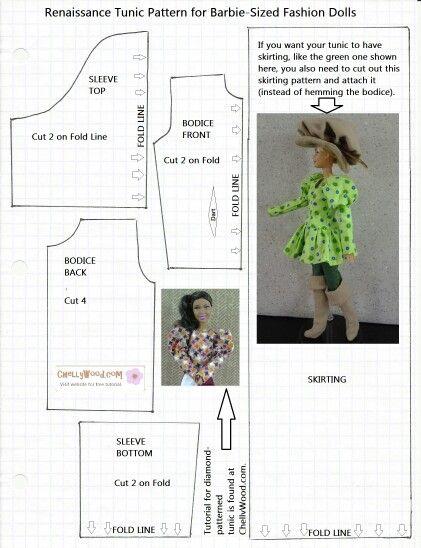 Pin von Frans Vagner auf modelagem de roupas pra Barbie | Pinterest