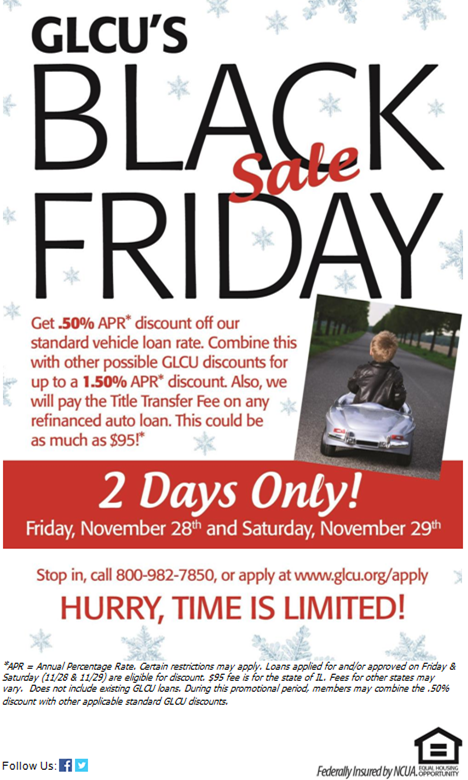 Great Lakes Credit Union S Special Black Friday Sale On Auto Loans For 2 Days Only Credit Union Great Lakes Car Loans