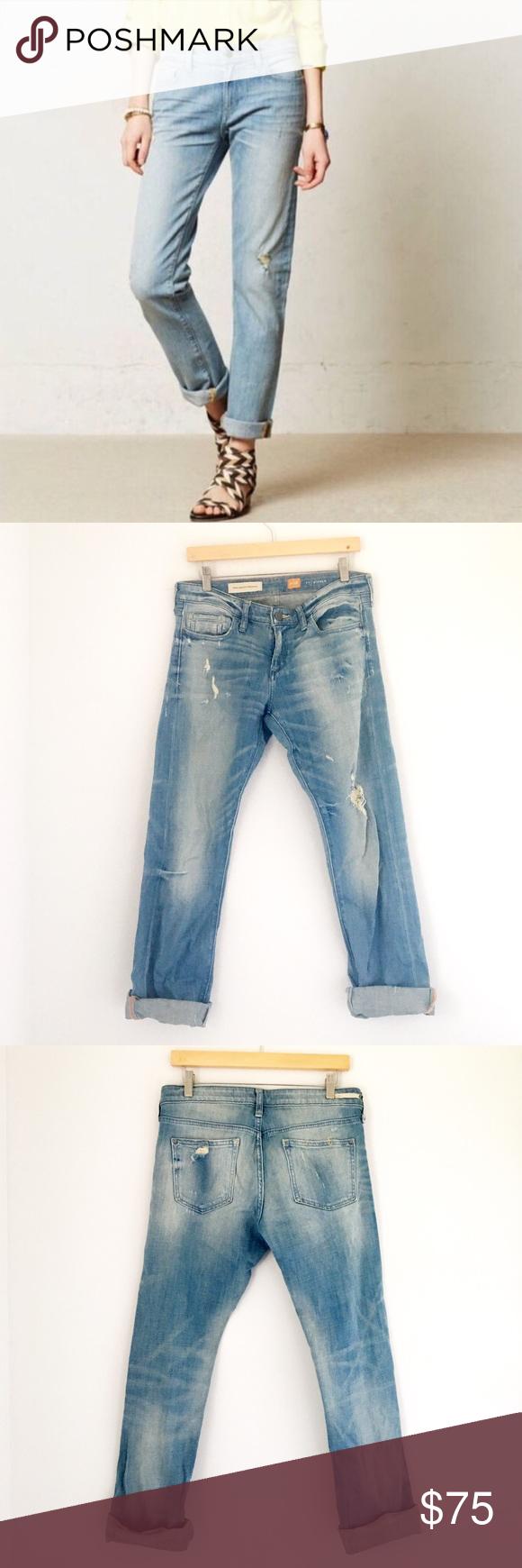 Anthropologie Distressed Pilcro Hyphen Jeans Very nice distressed designer denim jeans. Anthropologie Jeans Boyfriend