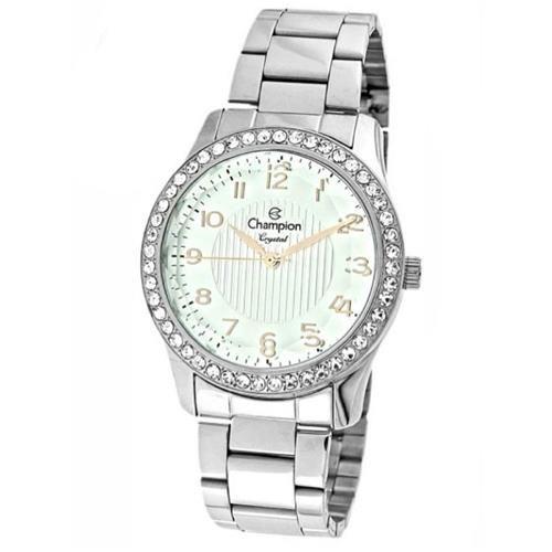 b85dd2ffc73fc Relogio Champion Crystal Feminino Prata CN27205Q   Relógios ...