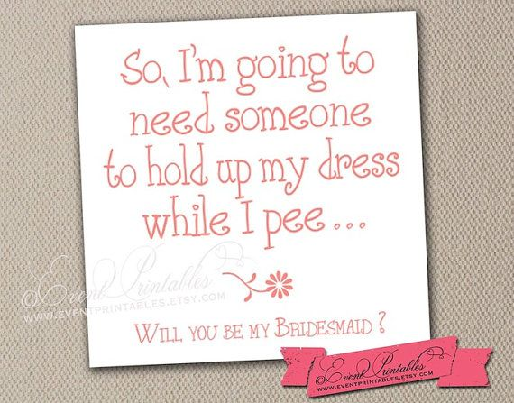 Hey I Found This Really Awesome Etsy Listing At Https Www Etsy Com Listing 189271210 Will You Funny Bridesmaid Proposal Be My Bridesmaid Cards Maid Of Honor