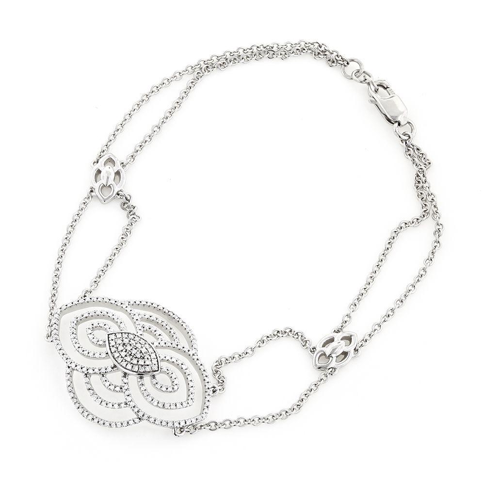 K gold ladies diamond bracelet antique design ct a girlus