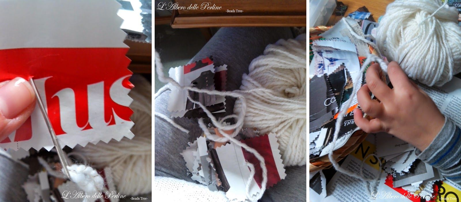 L'Albero delle Perline -Beads Tree-: RICICLO CREATIVO: albero di natale con riviste Christmas Tree with magazines