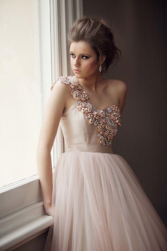 57ff973ed2 Gorgeous Soft Pink Tulle Gown Vestidos Elegantes