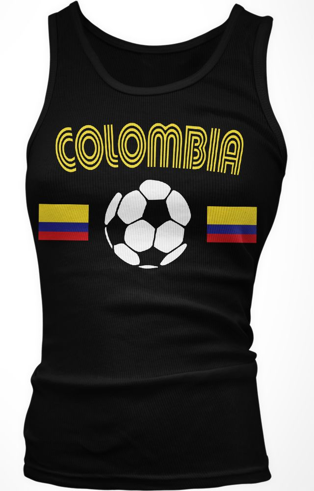 dfe29b03083 Colombia Colombian Flag National Country Pride Cafeteros Boy Beater Tank Top
