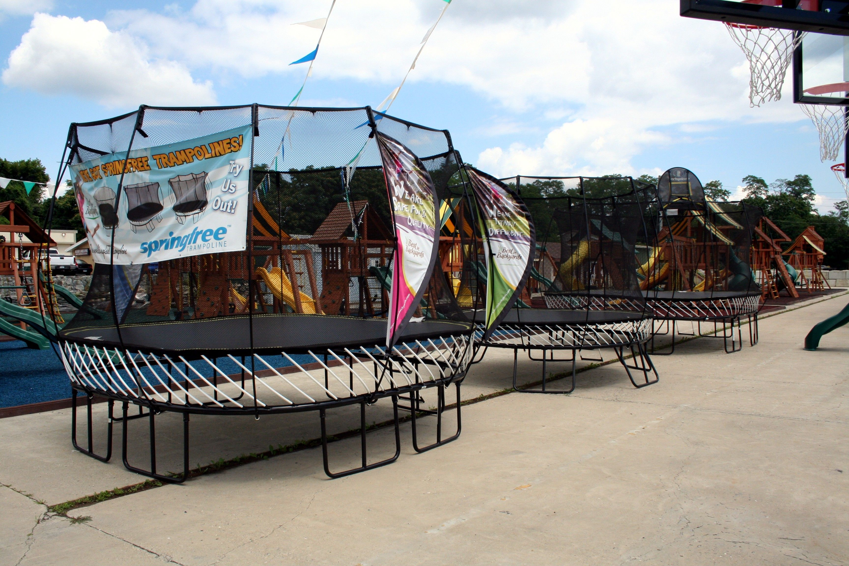 Best In Backyards Elmsford Ny mahopac ny trampoline display | showroom locations | pinterest
