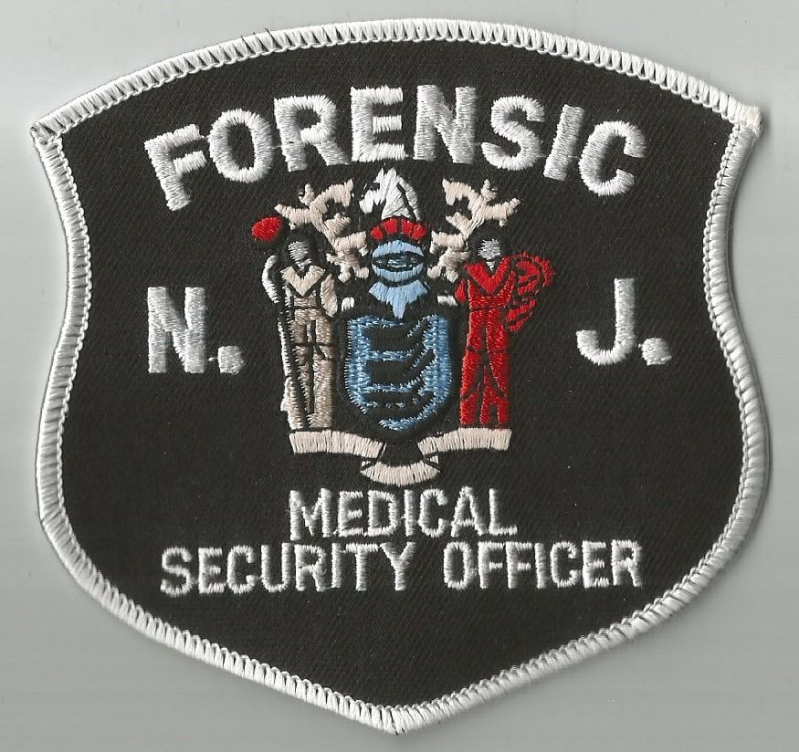 New Jersey Forensic Medical Center Security Department Patch Forensics Security Badge Security Officer