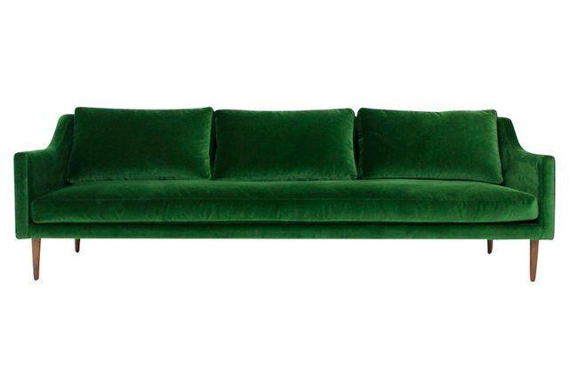 Emerald Green Velvet Sofa At One Kings Lane Green Velvet