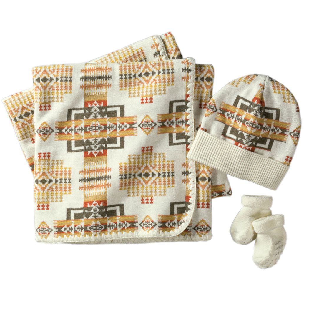 Pendleton Coyote Butte Knit Layette Set Cream Baby