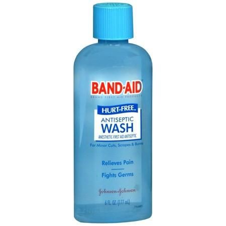 Band Aid Hurt Free Skin Antiseptic Wash 6 Oz Band Aid First Aid