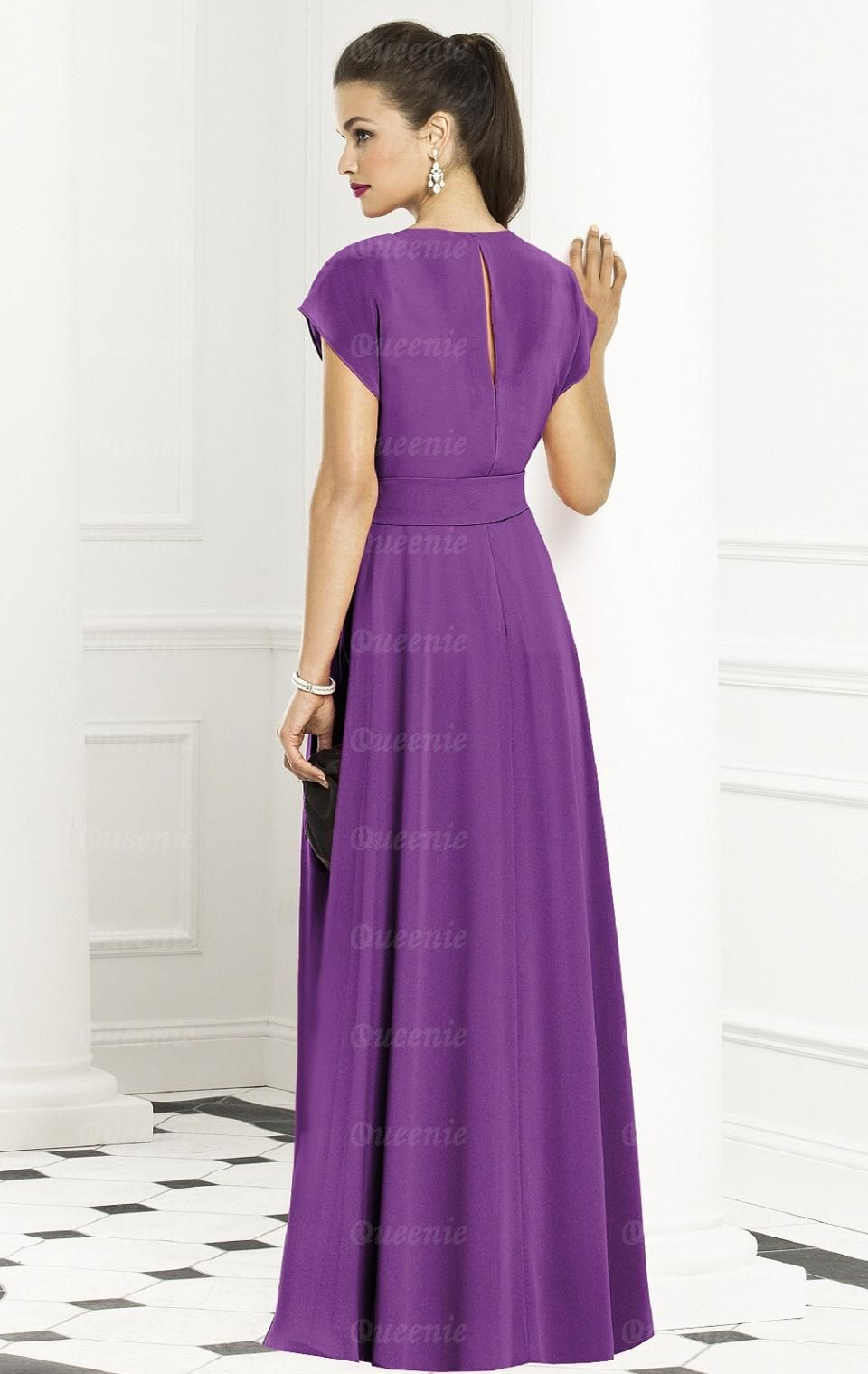 Forever Chiffon Purple Bridesmaid Dresses BNNAK0048-Bridesmaid UK ...