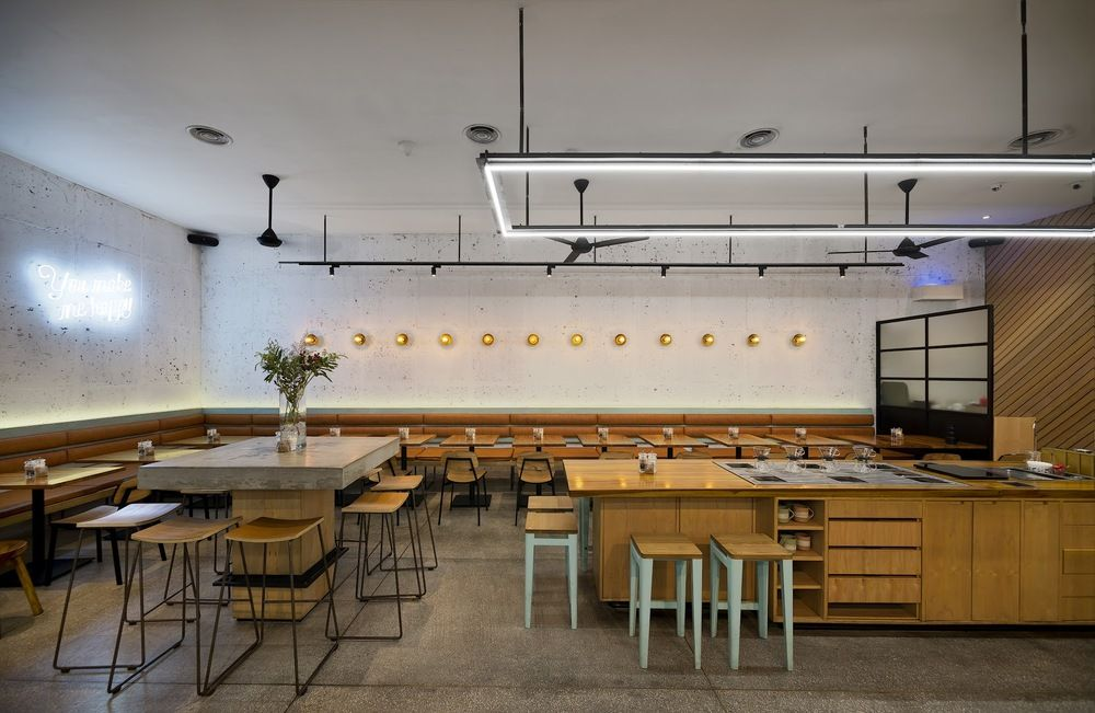 Modern Industrial Style Cafe St Ali Bandung Designed