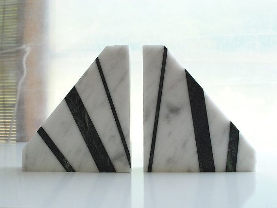Dramatic Bookends White Carrara Marble Library Item By Sevenstone 125 00 Carrara Marble Hand Carved Handmade
