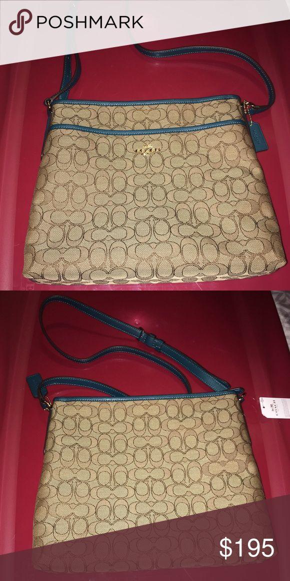 7f1e1b82289 Selling this Large cross body bag in my Poshmark closet! My username is   alwaystrendy.  shopmycloset  poshmark  fashion  shopping  style  forsale   Coach   ...