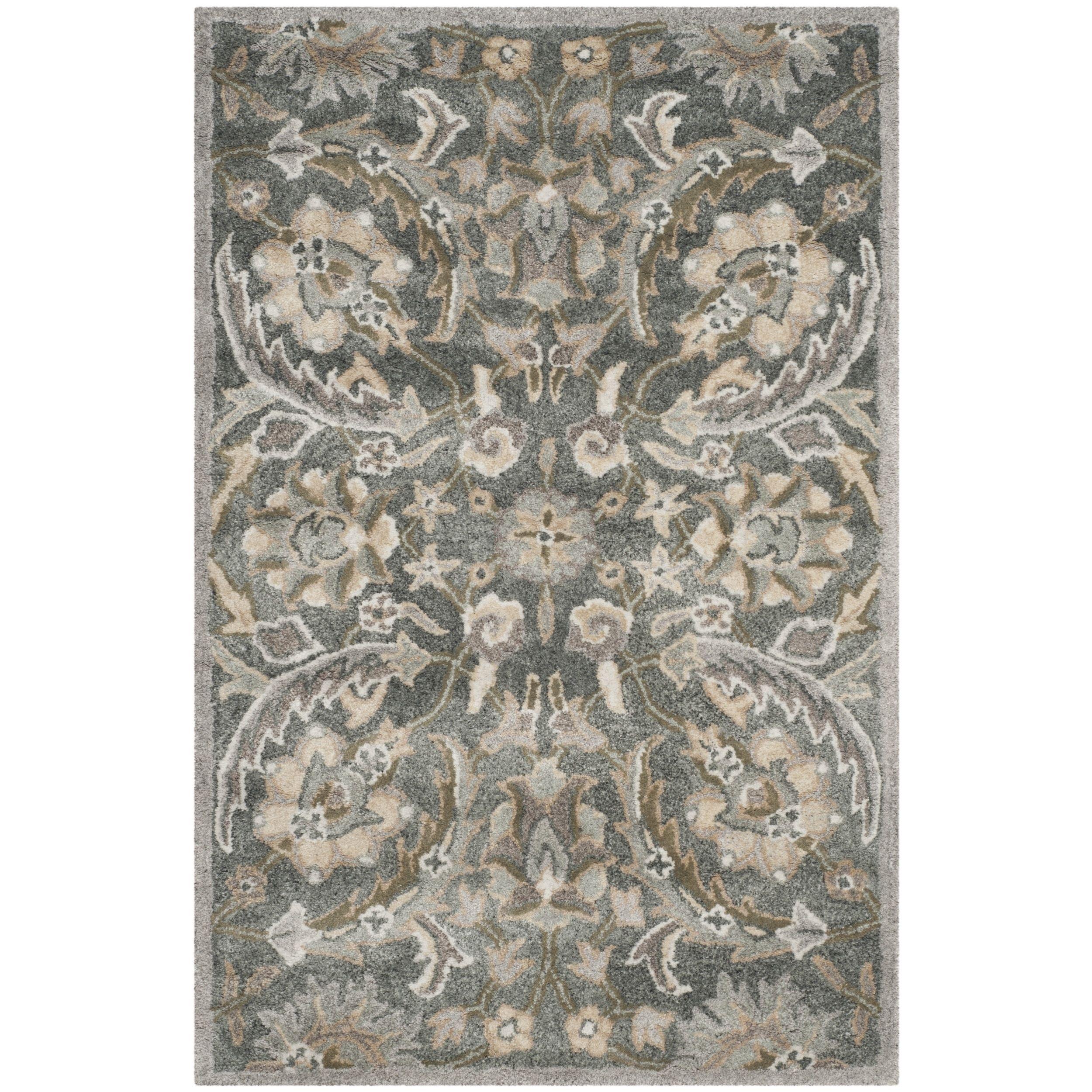 Safavieh Handmade Bella Grey/ Multi Wool Rug (2' 6 x 4') (BEL923B-24), Size 2' x 4'