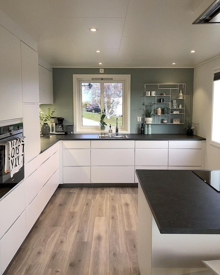 57 elegant modern white kitchen ideas for excellent home 2 in 2019 | Freestanding kitchen ...