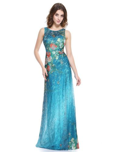 Women\'s Maxi Long Evening Formal Party Dress Printed Gown 08827 Ever ...