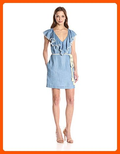 b889478104b2 Plenty by Tracy Reese Women's Flounce Neck Dress, Chambray, S - All about  women (*Amazon Partner-Link)