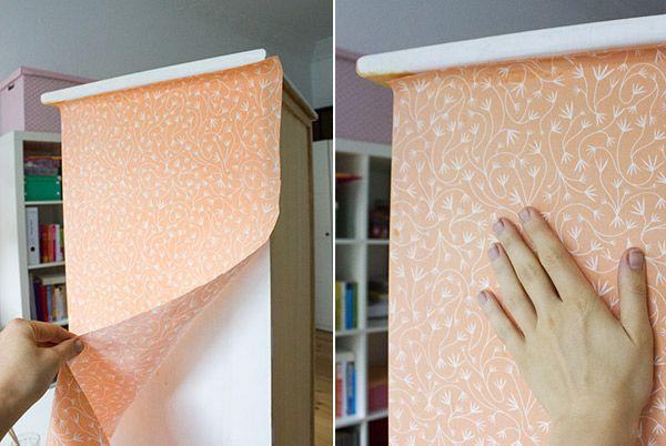 schrank mit stoff beziehen n hen pinterest schrank schrank bekleben und deko. Black Bedroom Furniture Sets. Home Design Ideas